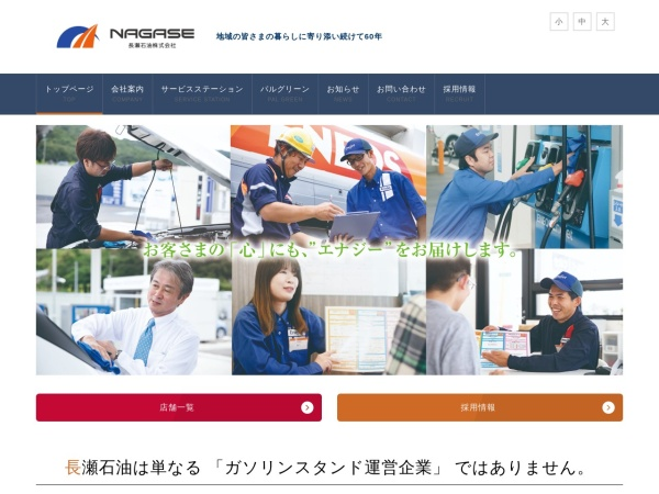 Screenshot of www.nagase-s.co.jp