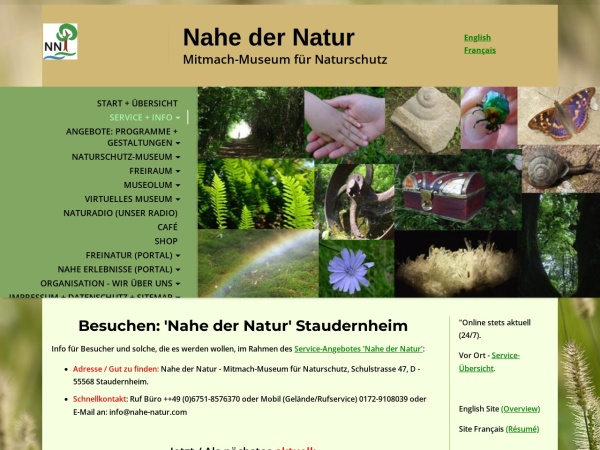 Screenshot von www.nahe-natur.com