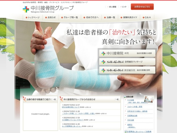 Screenshot of www.nakagawa-s.jp