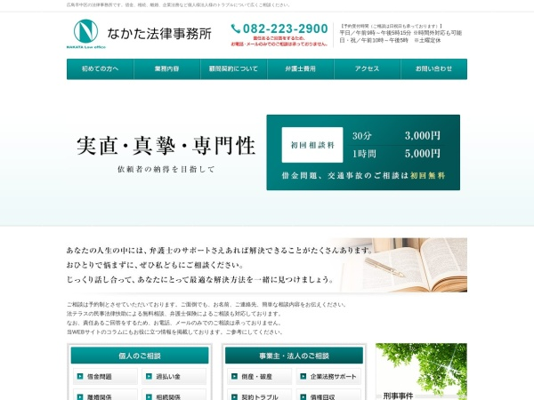 Screenshot of www.nakata-law.com