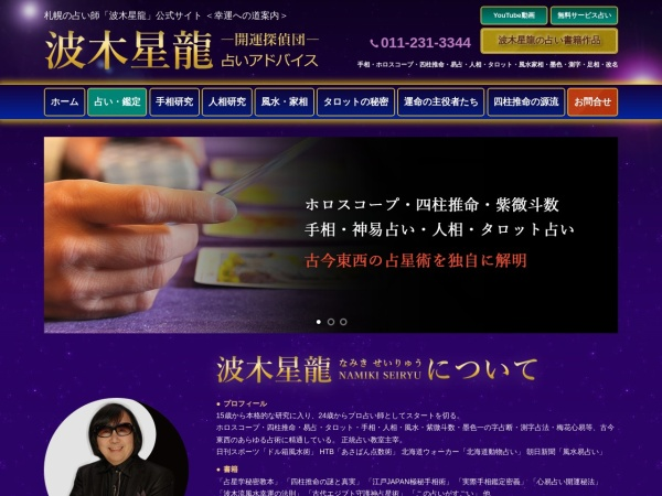 Screenshot of www.namikiseiryu.com
