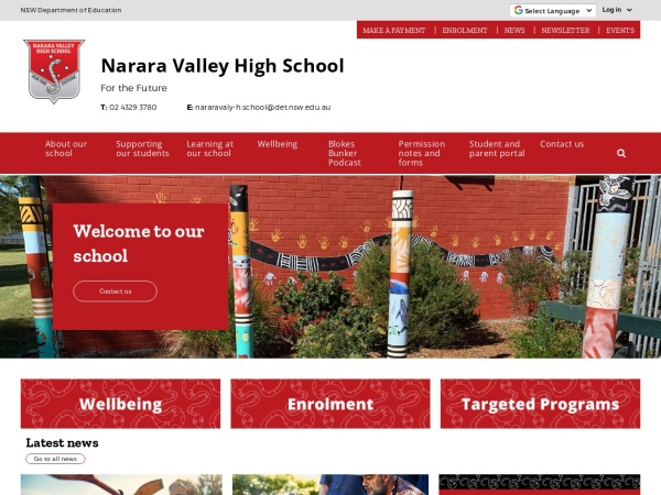 Screenshot of www.nararavaly-h.schools.nsw.edu.au