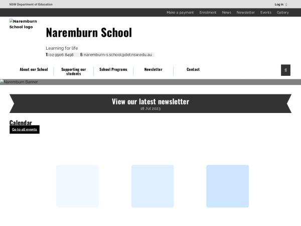 Screenshot of www.naremburn-s.schools.nsw.edu.au