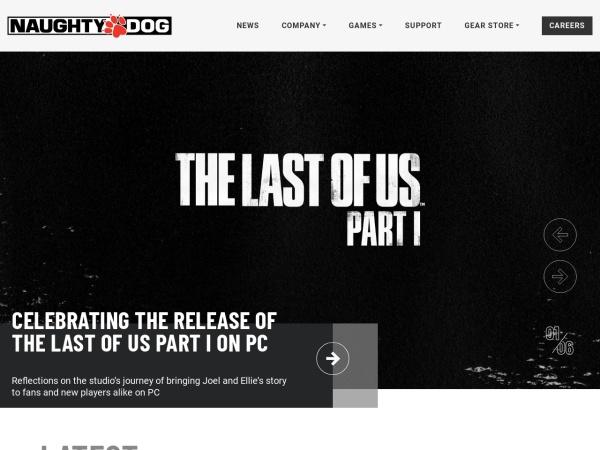 Screenshot of www.naughtydog.com