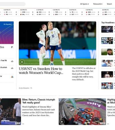 Screenshot of www.nbcsports.com