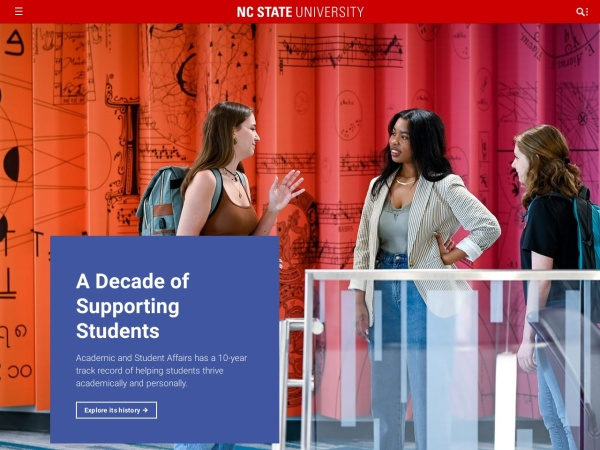 Screenshot of www.ncsu.edu