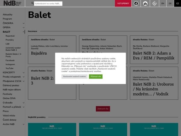 Screenshot of www.ndbrno.cz