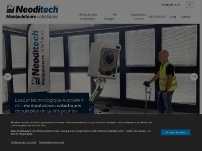 Neoditech, concepteur et fabricant de solutions ergonomiques de manutention industrielle