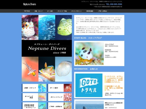 Screenshot of www.neptune-d.com