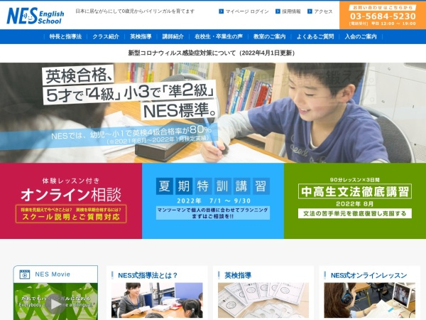 Screenshot of www.nes-english-school.com