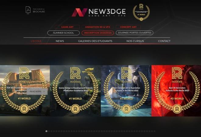 Screenshot of www.new3dge.com