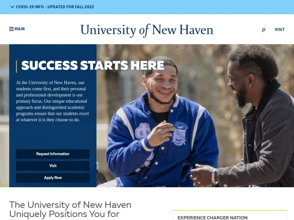 Screenshot of www.newhaven.edu