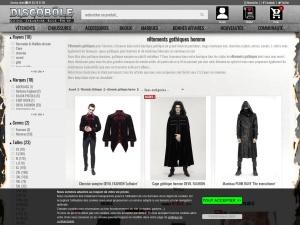 Vêtements gothique pour homme sur Discobole
