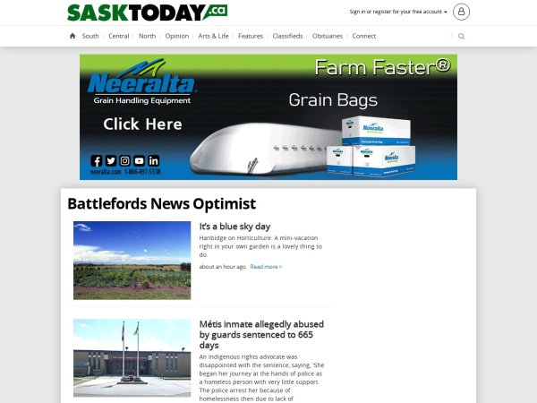 Screenshot of www.newsoptimist.ca