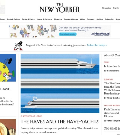 Screenshot of www.newyorker.com