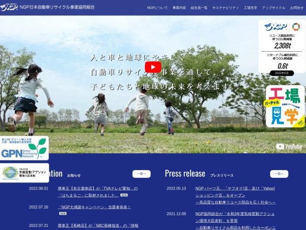 Screenshot of www.ngp.gr.jp