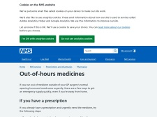 http://www.nhs.uk/Livewell/Pharmacy/Pages/Medicinesoutofhours.aspx