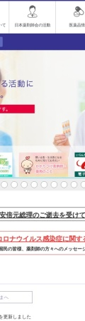 Screenshot of www.nichiyaku.or.jp