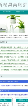 Screenshot of www.niiyaku.or.jp