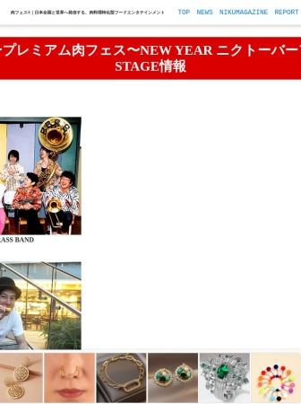Screenshot of www.nikufes.jp