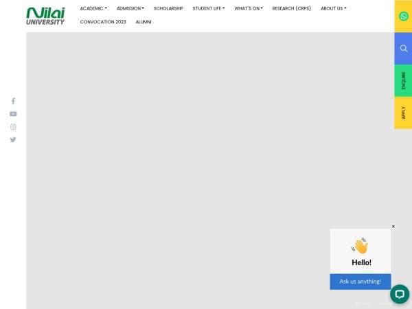 Screenshot of www.nilai.edu.my