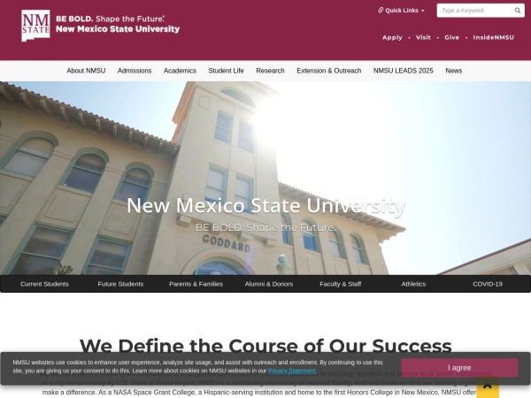 Screenshot of www.nmsu.edu