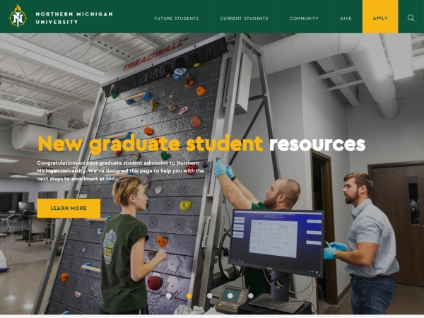 Screenshot of www.nmu.edu