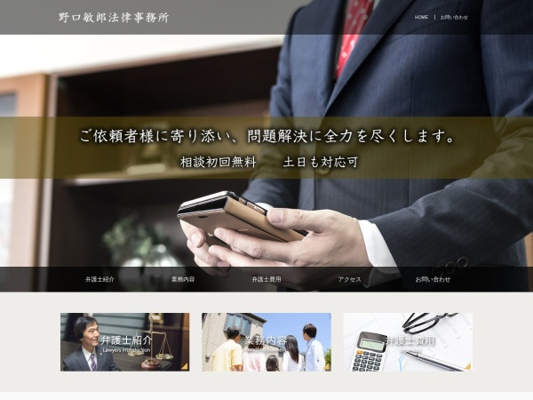 Screenshot of www.noguchi-law.net