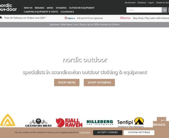 Screenshot of www.nordicoutdoor.co.uk