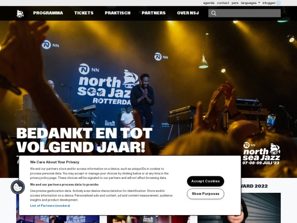 Screenshot von www.northseajazz.com