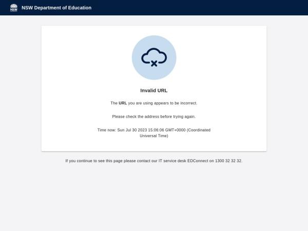 Screenshot of www.northsydgi-h.schools.nsw.edu.au