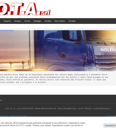Screenshot of www.notasrl.it