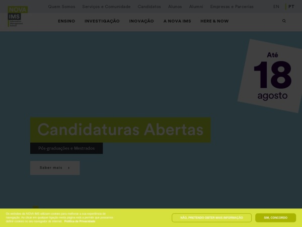 Screenshot of www.novaims.unl.pt