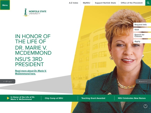 Screenshot of www.nsu.edu