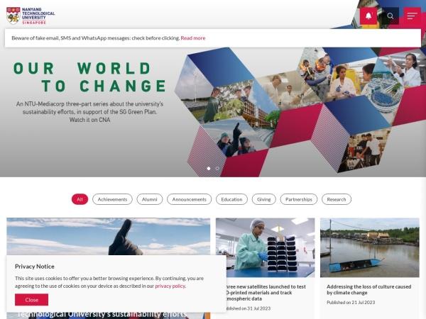 Screenshot of www.ntu.edu.sg