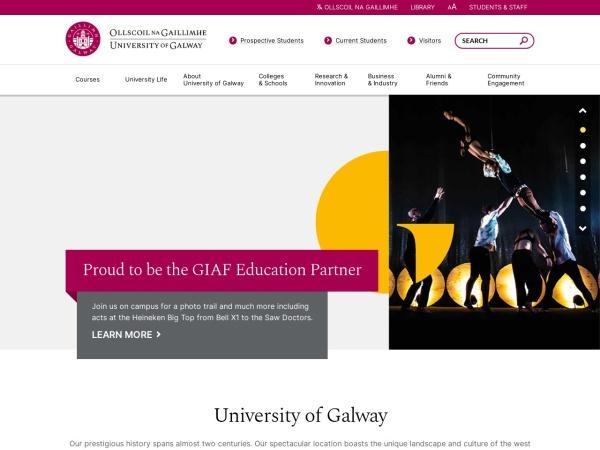 Screenshot of www.nuigalway.ie