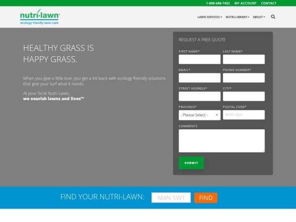 Screenshot of www.nutrilawn.com