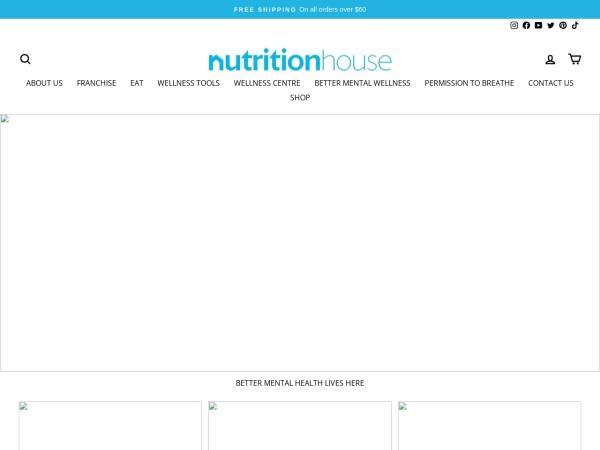 Screenshot of www.nutritionhouse.com