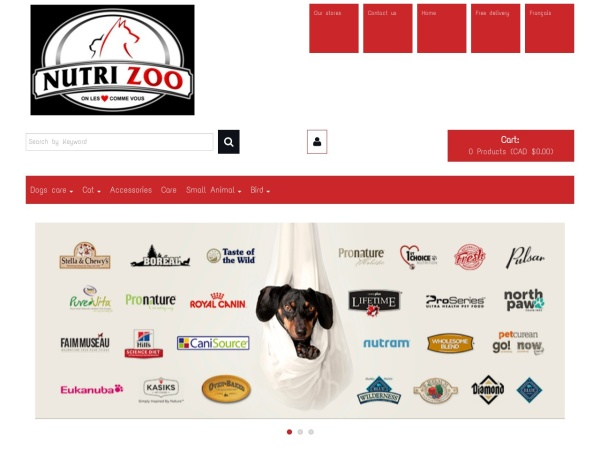 Screenshot of www.nutrizoo.com