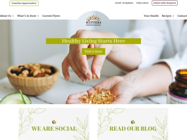 Screenshot of www.nutters.com