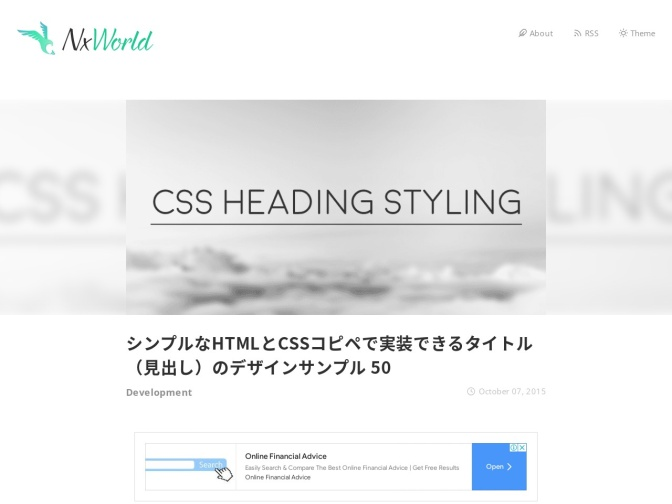 http://www.nxworld.net/tips/50-css-heading-styling.html