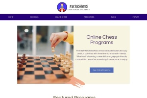 Screenshot of www.nychesskids.com