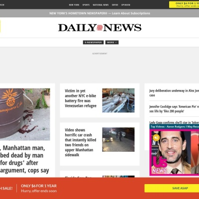 Screenshot of www.nydailynews.com
