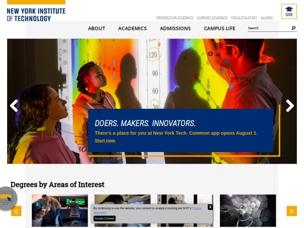 Screenshot of www.nyit.edu