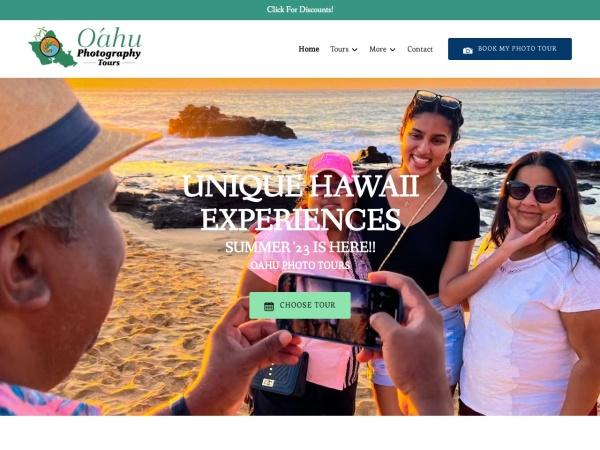 Screenshot of www.oahuphotographytours.com