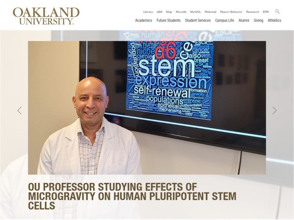 Screenshot of www.oakland.edu