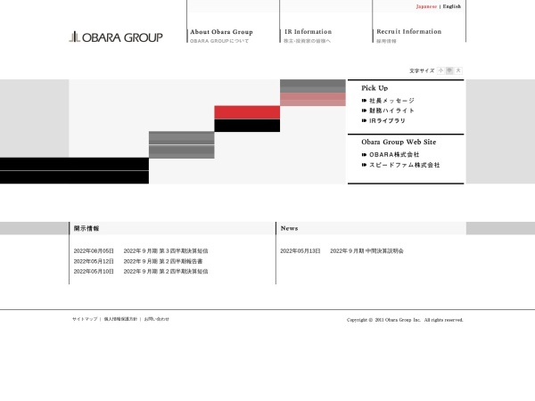 Screenshot of www.obara-g.com