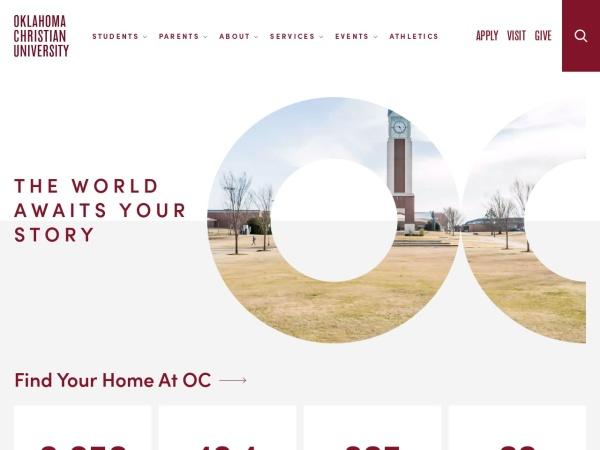 Screenshot of www.oc.edu