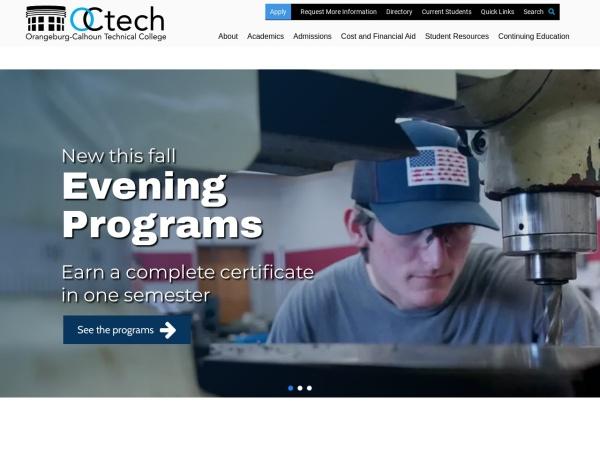 Screenshot of www.octech.edu