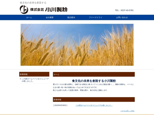 Screenshot of www.ogawa-seifun.jp